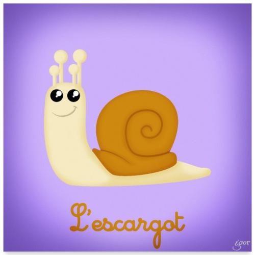 L'escargot - Poster 60 x 60 cm