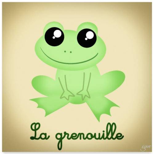 La grenouille - Poster 60 x 60 cm