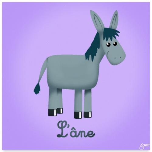 L'âne - Poster 60 x 60 cm