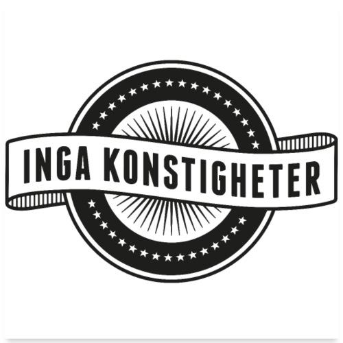 Inga Konstigheter logotyp - Poster 60x60 cm