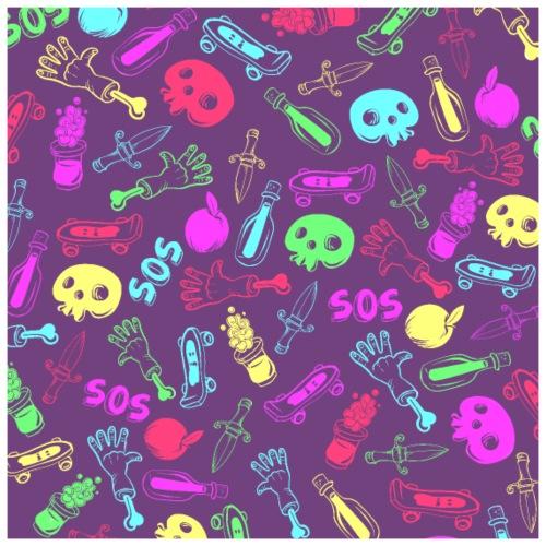 Color Cool Stuff - Póster 60x60 cm
