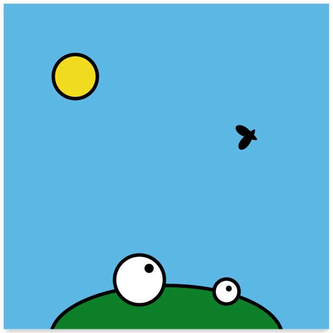 Hungry Frog - lunch time