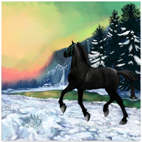 cheval noir - poster