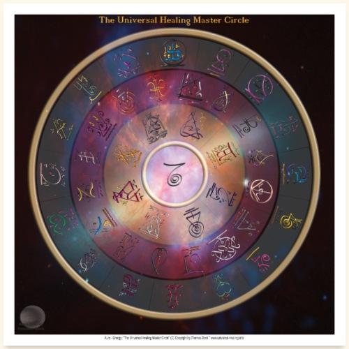 The Universal Healing Master Circle - Poster 60x60 cm