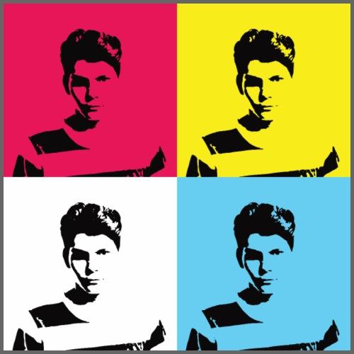 Pop art - Man - Plakat o wymiarach 60 x 60 cm
