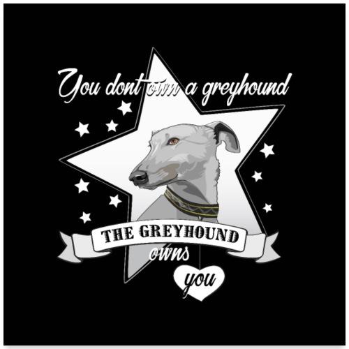 The Greyhound - Poster 60x60 cm