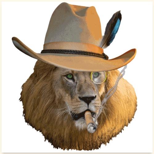 Löwe auf Safari - Poster 60x60 cm