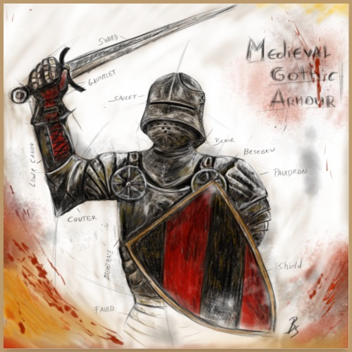 Medieval Gothic Armour Poster - Poster 24 x 24 (60x60 cm)