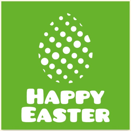 Happy Easter mit Punktmuster als Osterei Poster