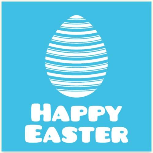 Happy Easter mit Streifenmuster als Osterei Poster