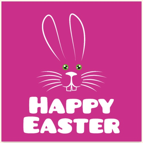 Happy Easter mit Osterhase Poster