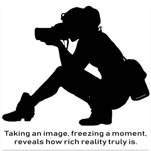 Photographer freezing moment Image (poster) - Poster 60x60 cm