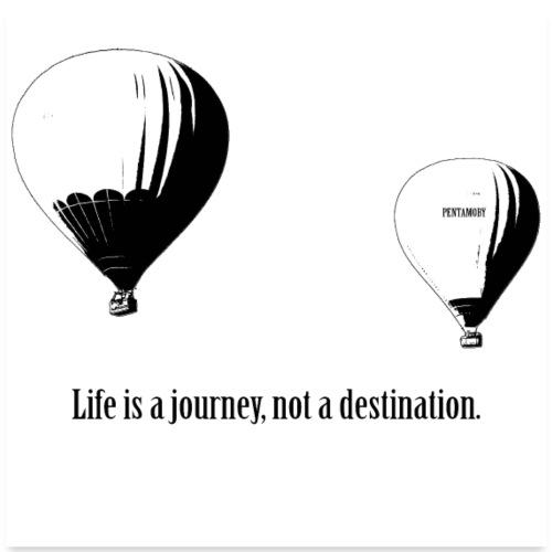 Ballon - Life is a jouney not a destination (post) - Poster 60x60 cm
