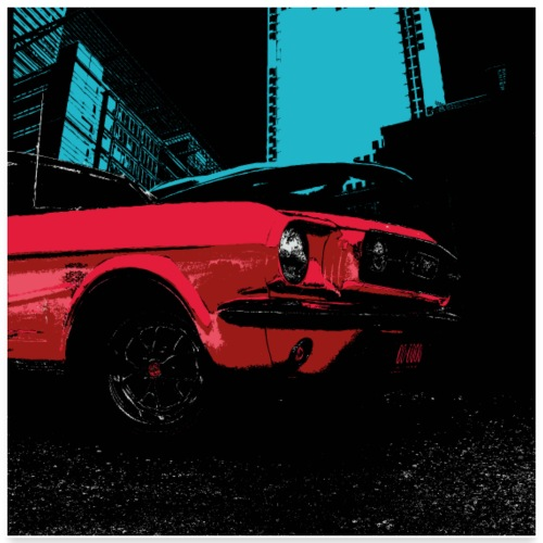 Erorxshirts city poster 6 classic car - Poster 60x60 cm