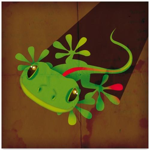 Gecko - Poster 60x60 cm