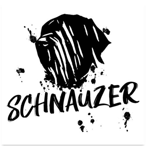 POSTER Riesenschnauzer / Schnauzer Design Hunde - Poster 60x60 cm