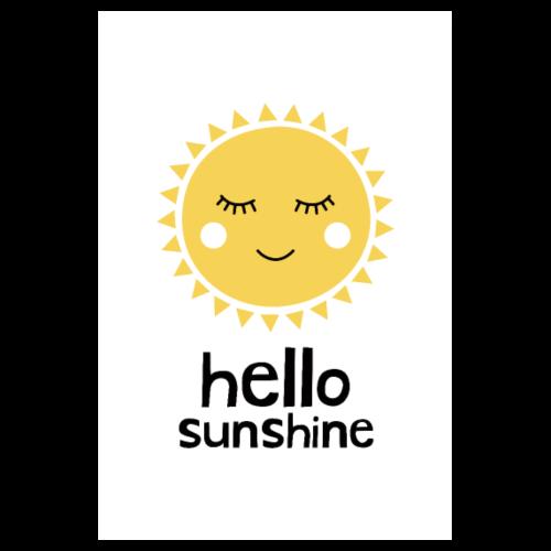 Hello Sunshine Yellow - Poster 8 x 12
