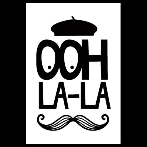 French Ooh La La - Mustache - Poster 8 x 12