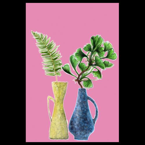 mein Rosa Retro Zuhause Dschungel - Poster 20x30 cm