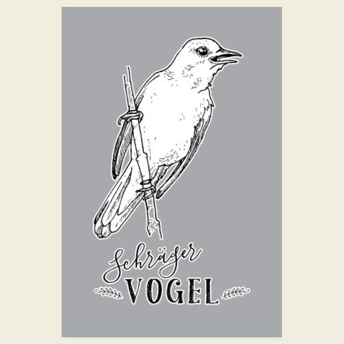 Schraeger Vogel Plakat - Poster 20x30 cm