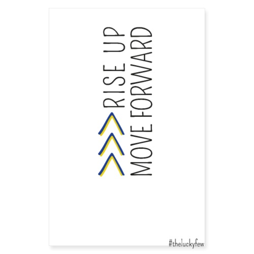 >>> RISE UP MOVE FORWARD | The colorful zebra - Poster 8 x 12