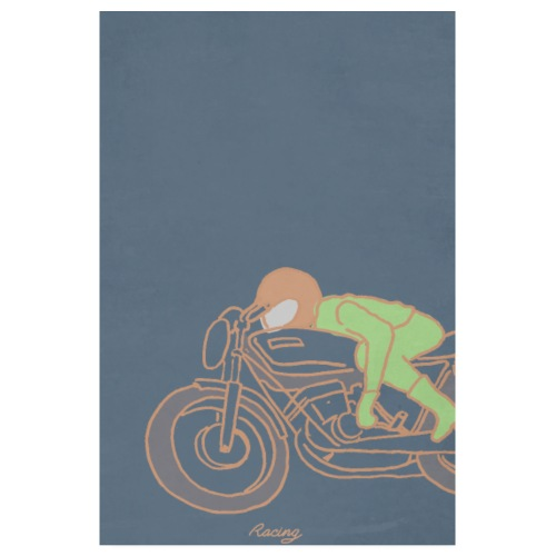 seventies racer orange - Poster 20 x 30 cm
