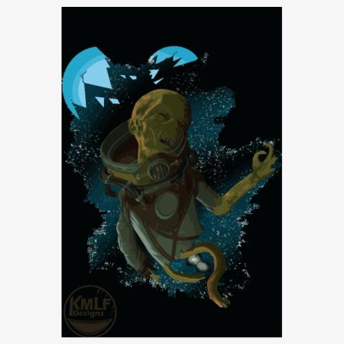 Poster alien mort dans l espace - Poster 20 x 30 cm