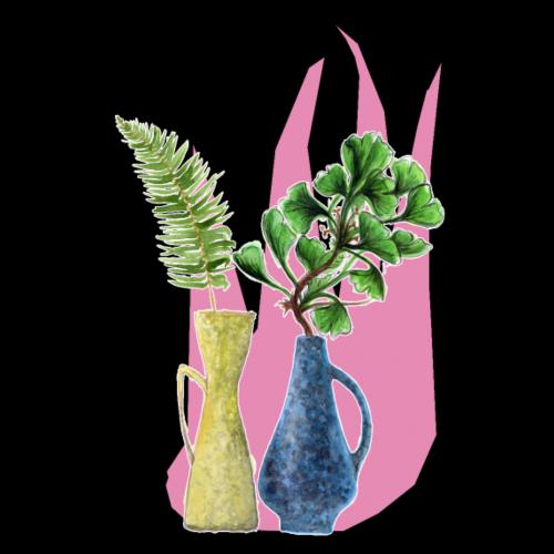 S vasen pink Poster - Poster 20x30 cm