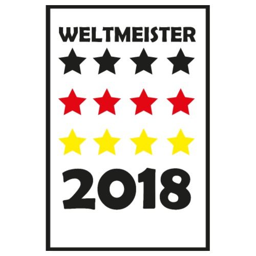 Weltmeister 2018 WM Poster - Poster 20x30 cm