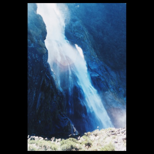 Waterfall / Analog Fotografie - Poster 20x30 cm