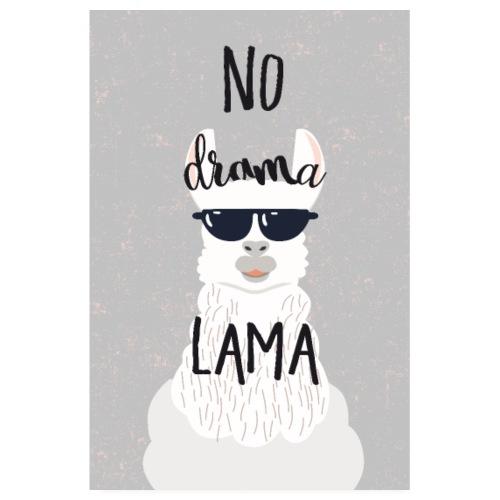 no drama lama - Poster 20x30 cm
