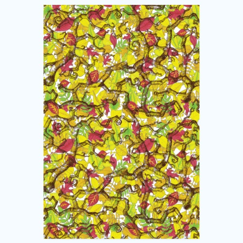Snarl on leaves POSTER - Poster 20x30 cm