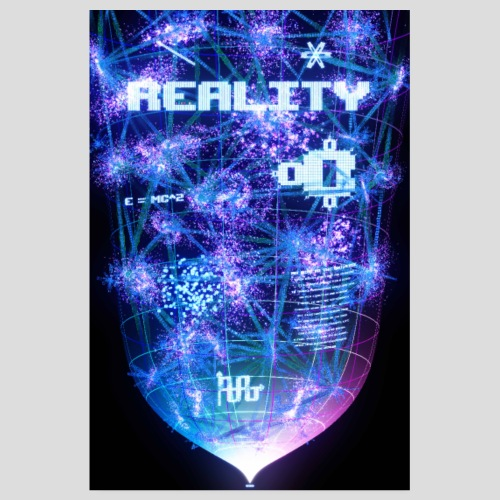 Reality: Typography Poster - Poster 8 x 12 (20x30 cm)