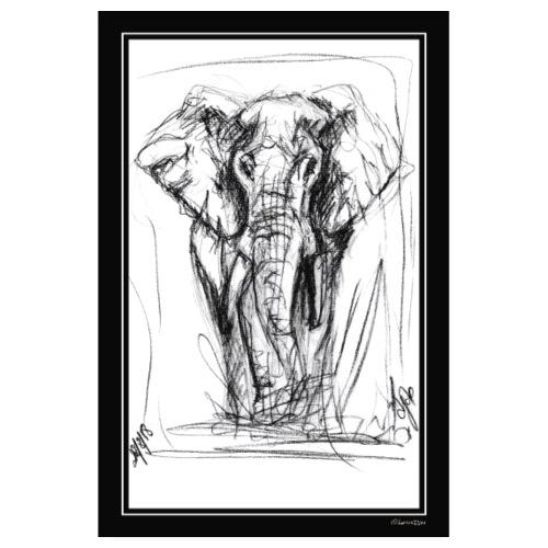 L'Eléphant par Djao - Poster 20 x 30 cm