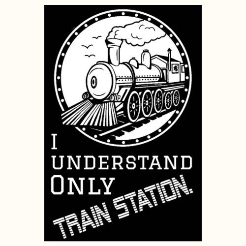 Train Station - Poster schwarz - Poster 20x30 cm