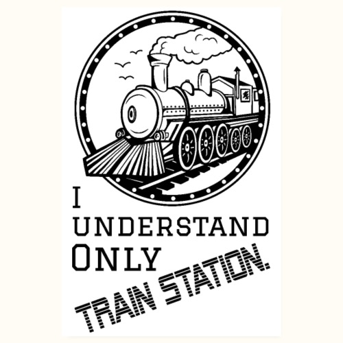Train Station - Poster weiß - Poster 20x30 cm