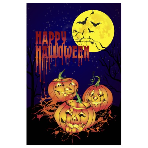 Happy Halloween vertical poster - Poster 8 x 12 (20x30 cm)