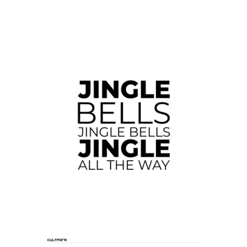 Weihnachtsgrafik Jingle Bells Typo hochformat