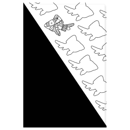 triangle of fishes - Poster 8 x 12 (20x30 cm)