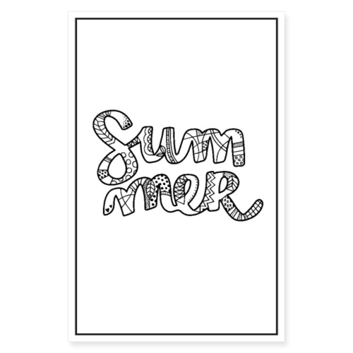 Summer poster - Poster 8 x 12 (20x30 cm)