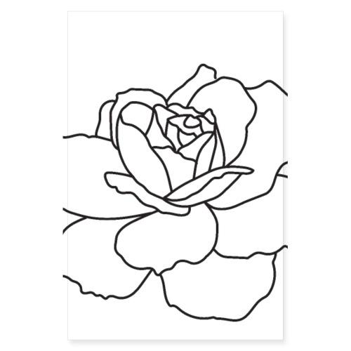 Rose poster - Poster 8 x 12