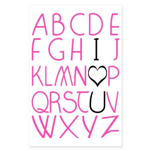 Alpha I love U POSTER - Poster 20 x 30 cm