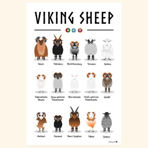 Viking Sheep Poster - Poster 20x30 cm
