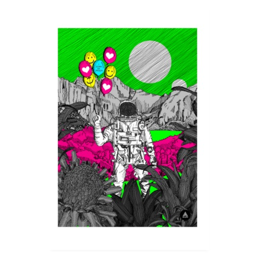 Peaceful Astronaut - Poster 8 x 12 (20x30 cm)