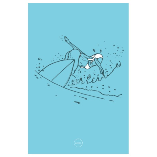 surfeuse - Poster 20 x 30 cm