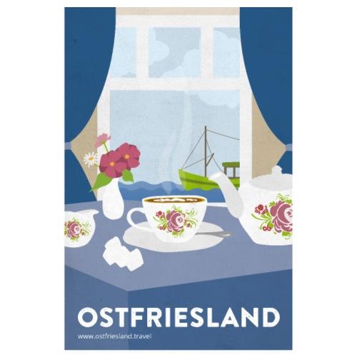 Ostfriesland Vintage Travel Poster - Tee und Kutte