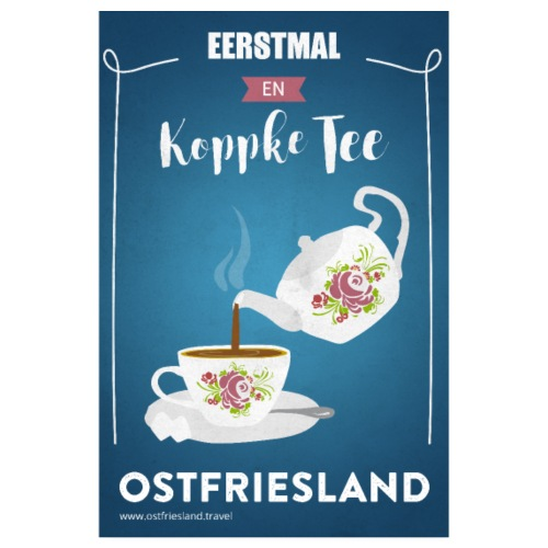 Ostfriesland Vintage Travel Poster - Teekanne