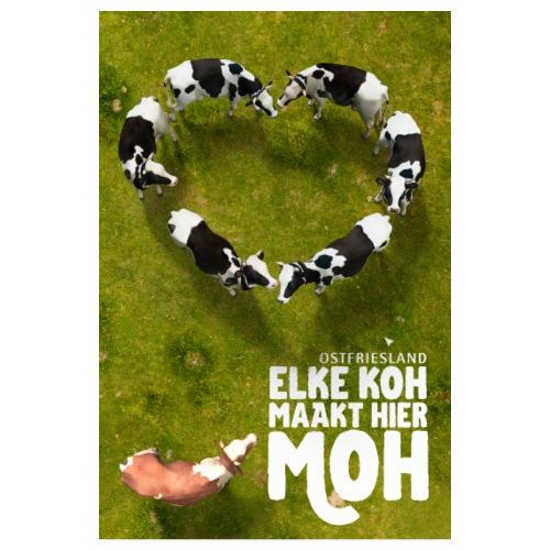 Ostfriesland Travel Poster - Kuh und Milch - Poster 20x30 cm