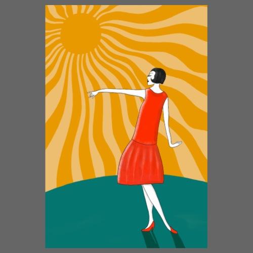 Tanzende Frau in der Sonne - Jugendstil Poster - Poster 20x30 cm