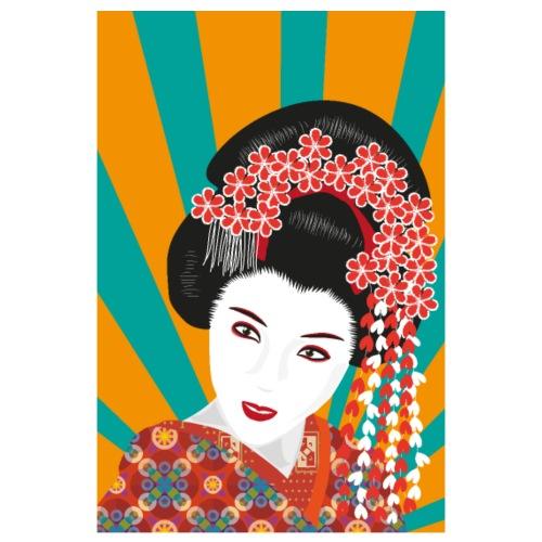 Geisha - Bunte Pop Art - Poster 20x30 cm